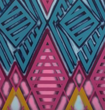 徐渠《货币战争-新和旧的10元人民币》150×158cm布面丙烯 2015私人收藏© Alex Israel 摄影:Sebastiano Pellion di Persano 致谢艺术家和阿尔敏·莱希