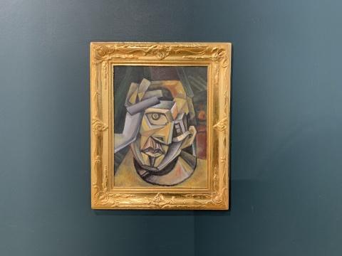 《毕加索自画像》 120×90cm 板上综合材料 2019