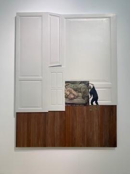 《搬沙发》 240×180cm 板上综合材料 2019