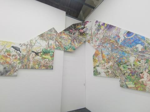 李世准《描述无法描述之物》,738.1 x 325.1 cm ,布面油画 ,2013