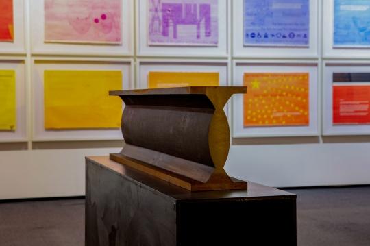 吴山专 & 英格 - 斯瓦拉·托斯朵蒂尔《浇筑生铁 》28×16×120 cm 红砖美术馆收藏 © 吴山专 & 英格 - 斯瓦拉·托斯朵蒂尔