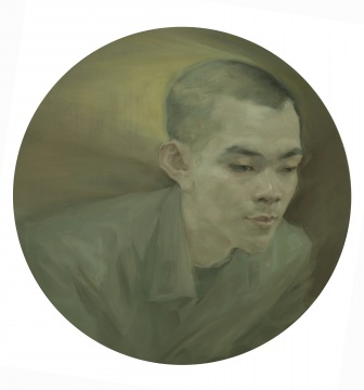 江山春《朗》直径60cm 布面油画 2019