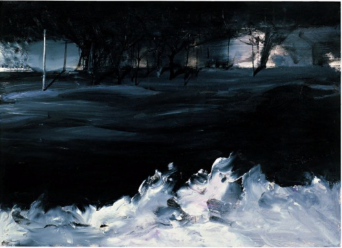 康海涛《白浪》77×106cm 纸本油画 2006
