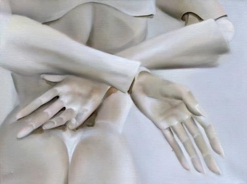 宋琨《被禁锢的身体6号》45x60cm 布面油画 2019