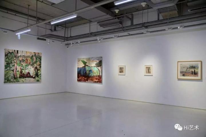 """魏祥奇于2018年策划的展览""""直觉意识:绘画的原力""""现场,北京时代美术馆"""