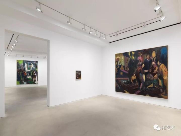 """正在卓纳香港展出的尼奥·劳赫个展""""宣传"""""""