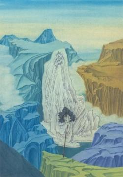徐累(1963年生) 《消息树》 78.5×44cm 纸本设色 2019  墨斋,北京