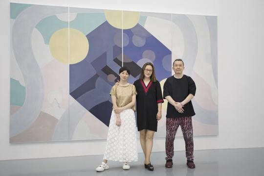艺术家马丹、 艾米李画廊创始人李颖Amy、 艺术家王鉴为