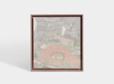 胡箫桐《新桐》130×135cm绢本设色
