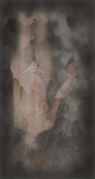 叶紫《她的叙事诗》193×103cm 绢本设色 2019