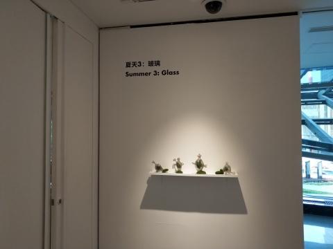 玻璃艺术家杜蒙的作品将玻璃与自然物进行结合