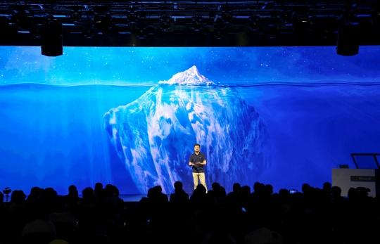 """""""第七代微软小冰""""年度发布会现场"""