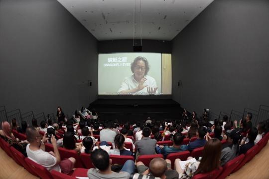 开幕仪式上放映了《蜻蜓之眼》完整影像作品及Q&A访谈