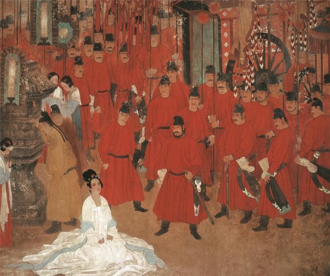《魂系马嵬》(与何家英合作) 165×195cm 纸本 1989,获第七届全国美术作品展银奖、新人奖