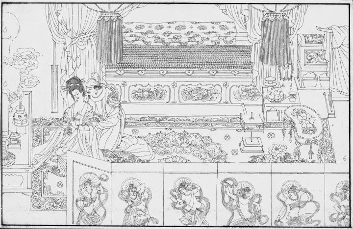《长生殿》节选15×23cm×80纸本1985,获第七届全国美术作品展铜奖