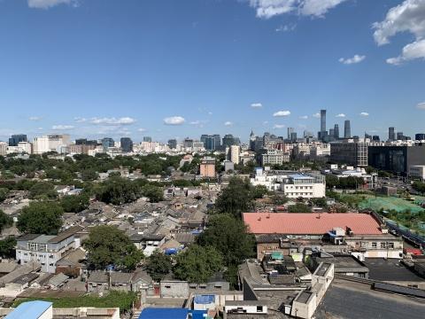 木木艺术社区9层天台,西眺奥体盘古,东望中国樽,晴天视野极好