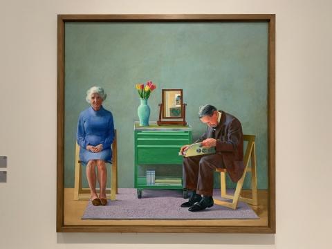 《我的父母》 182.9×182.9cm 布面油画 1977  泰特美术馆收藏