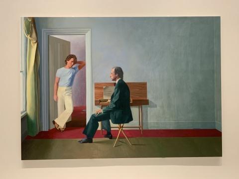 《乔治·劳森和韦恩·斯利普》 212.5×300.8cm 布面丙烯 1972  泰特美术馆收藏