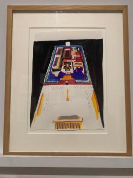 《故宫和天安门,中国北京》 51×37cm 纸本墨水和水粉 1981  木木美术馆收藏
