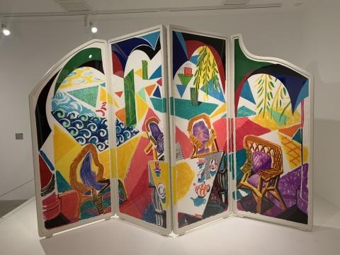 《加勒比茶歇时间》 215.2×85.1cm 四折屏风、石版画、丝网印刷、印刷纸和孔版印刷 1987  泰特美术馆收藏