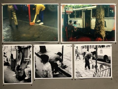 李巨川,《武昌城墙1995》,行为,1995