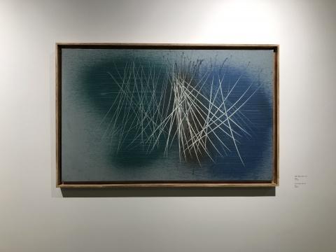 汉斯·哈同《1961-72,1961 》65x105cm,布面油画1962