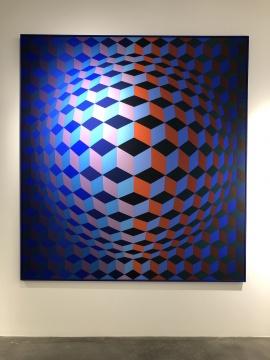 维克托.瓦萨雷 《干预》200x185cm 布面油画 1970
