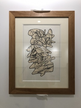 让·杜布菲《战士》37.7 x 27.6 cm黄色裁剪纸本马克笔画1958