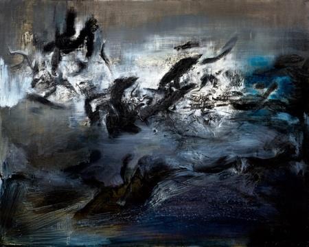 赵无极 《21.04.59》130 x 162 cm 油画画布 1956  估价:7500万-1亿港元