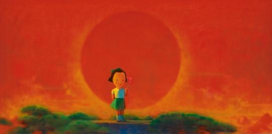 刘野《烟》 178 x 365.5cm 油画画布 2001-2002 估价: 2500万-3500万港元