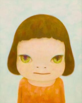 奈良美智 《看著你》91×73cm 亚克力画布 2007  估價: 1400万-2200万港元