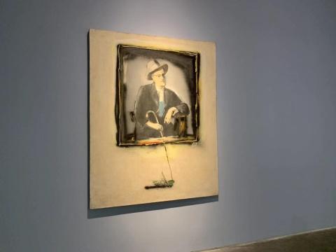 刘锋植《乔伊斯》180×145cm 布面油画 2006