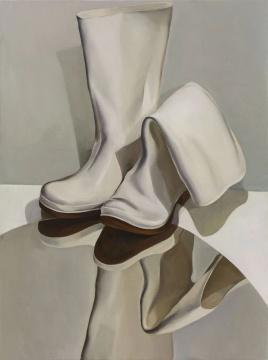 刘聪《白靴子》130×96.5cm 布面油画 2018