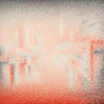 《时空裸体・即(109)》100×100cm 朱墨 墨 麻紙 2017年
