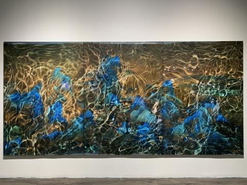 《千里江山图》200x420cm 布面油画 2018