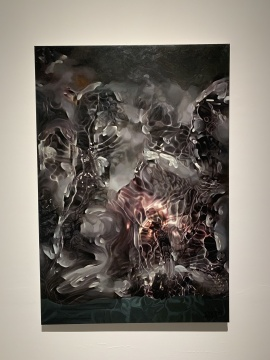 《山水空间的图解二号》 160x110cm 布面油画 2019