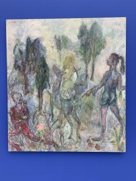 任小林 《不完美的蔷薇》 180×160cm 布面油画 2019