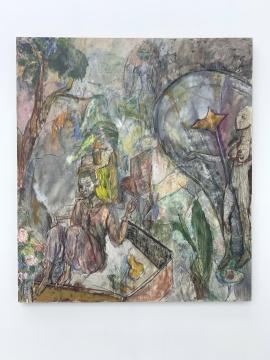 任小林 《女主人的庄园》 180×160cm 布面油画 2019