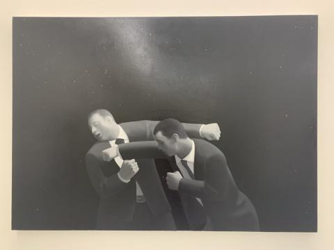 谭永勍 《战斗》 120×170cm 布面油画 2019