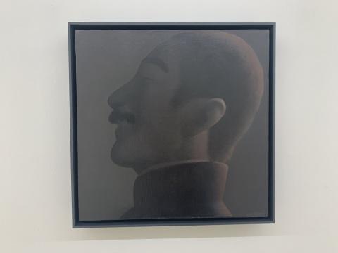 谭永勍 《鲁迅肖像》 40×40cm 布面油画 2019