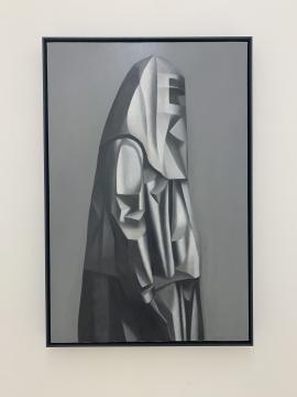 谭永勍 《生化人》 90×60cm 布面油画 2019