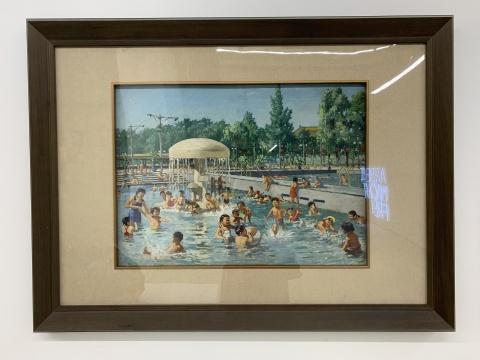 宗其香 《北京市人民游泳场》 55.5×76cm 布面油画 195