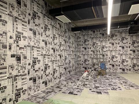 王友身 《报纸·室内装修》 尺寸可变 装置 193
