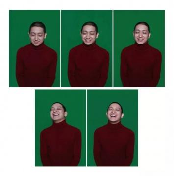 刘成瑞 120×80cm×5《悲伤》 行为、图片 2016