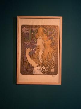 JOB香烟广告彩色石版画 1896  捷克共和国布拉格国家工艺美术博物馆藏