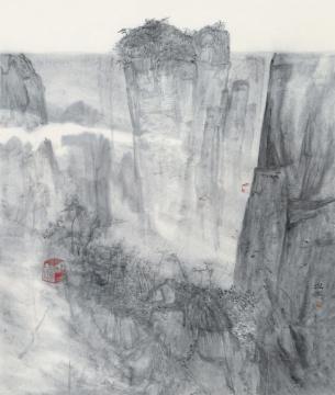 何微《逍遥游》纸本水墨 200cm×165cm 2019