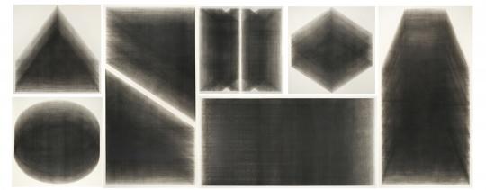 瞿作纯《时光叠变系列一,二,三,四,五,六,七》木版画 236cm×600cm 2019