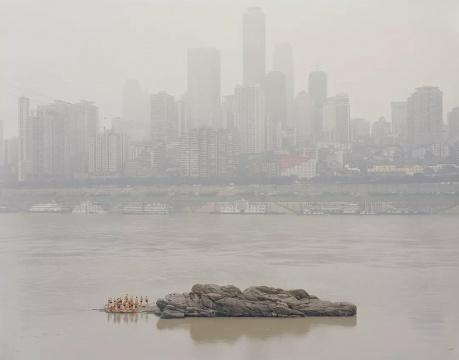《在江中的石头上》2011