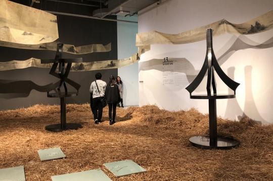 """北京时代美术馆""""共同空间——后非遗时代的大运河叙事""""主题展现场"""