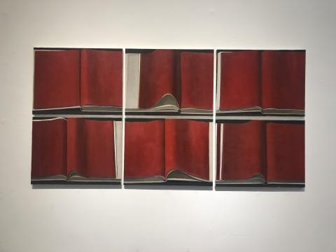 刘聪 《红书》80×60cm×6p 布面油画 2017